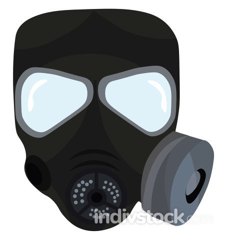 Gas mask, vector or color illustration.