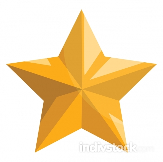 Gold christmas star vector illustration on a white background