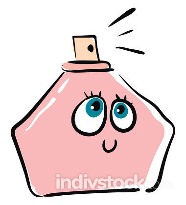 Happy perfume vector or color illustration