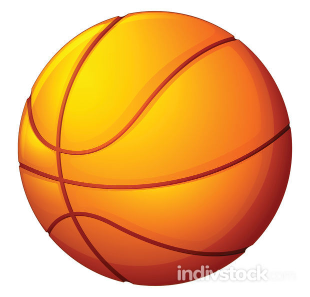 Image of basketball (ball), vector or color illustration.