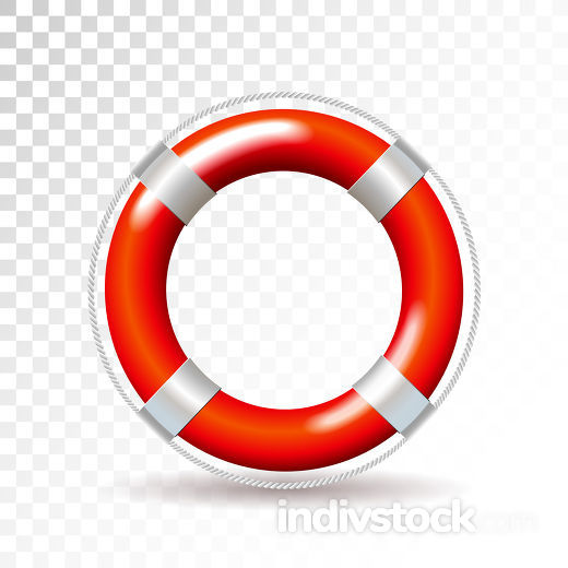 Life buoy isolated on transparent