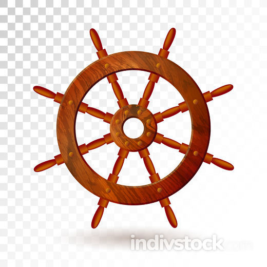 Ship steering wheel isolated