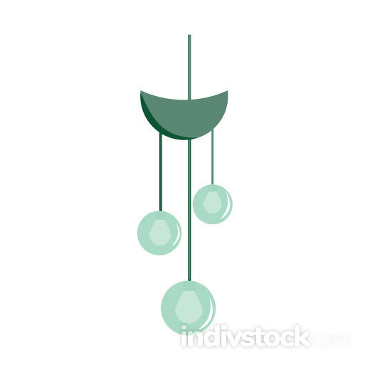 Small chandelier vector or color illustration
