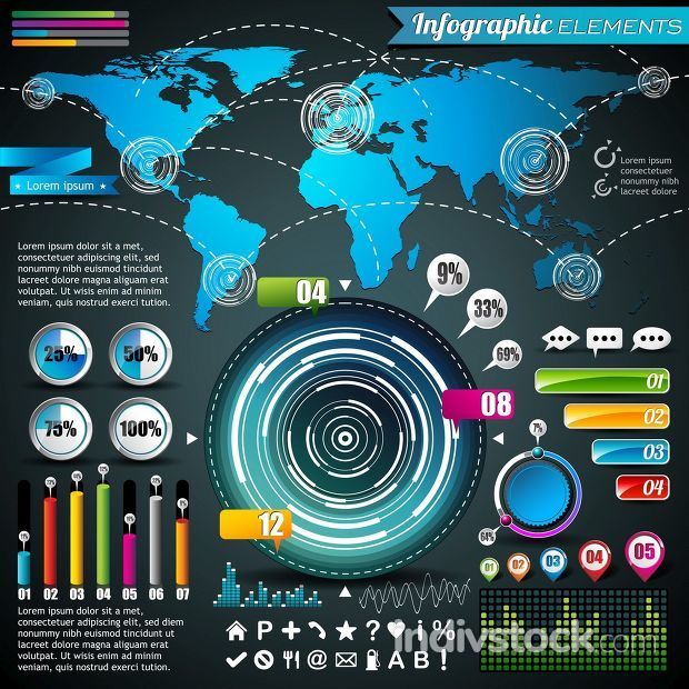 Vector design set of infographic elements