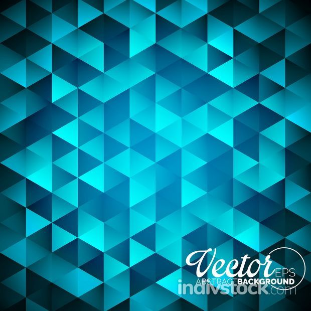 Vector geometric triangles background