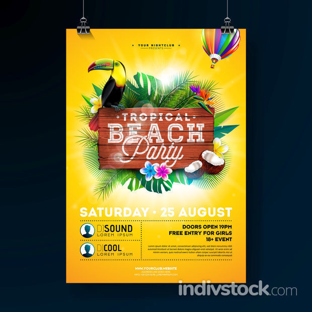 Vector Summer Beach Party