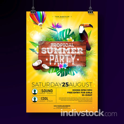 Vector Summer Beach Party