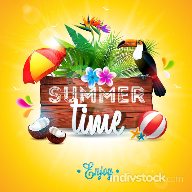 Vector Summer Time Holiday