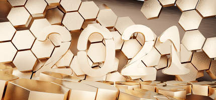 2021 hexagonal design background 3d-illustration