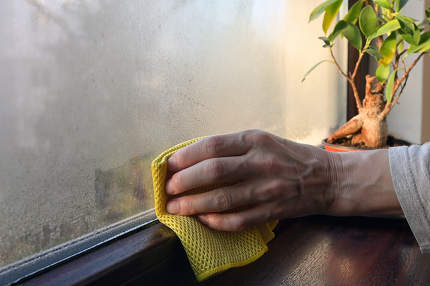 Absorb and Stop Condensation on Windows Overnight