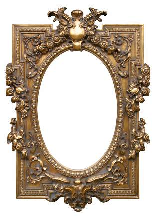 Antique picture frame from the 19. century.