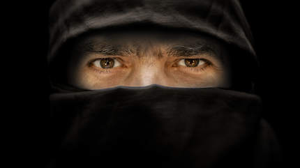 arabic male eyes portrait
