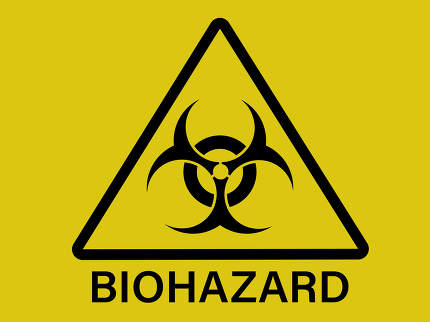 Biohazard dangerous sign