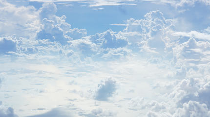 blue sky white clouds background photo