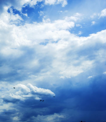 Blue sky with clouds photo. Beautiful picture, background, wallp