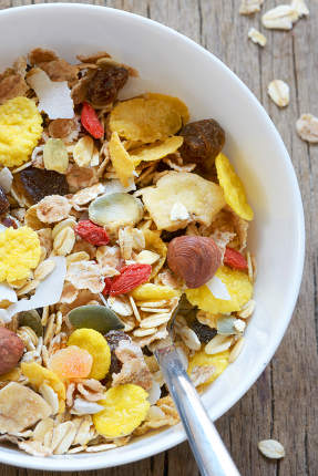 Bowl Of Dried Cereals