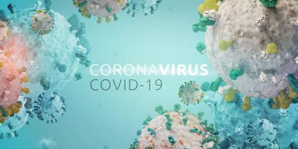 Corona Virus Microbiology And Virology Concept. Covid-19 design