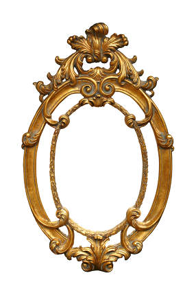 Decorated gilded wall picture framework