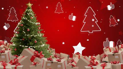 festive presents postal parcel shipment 3d-illustration