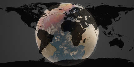 heat desert design planet earth 3d-illustration. elements of this image furnished by NASA