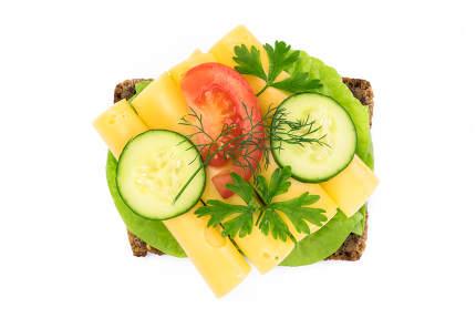 Homemade open sandwich