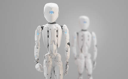 humanoid robot 3d-illustration design rendering