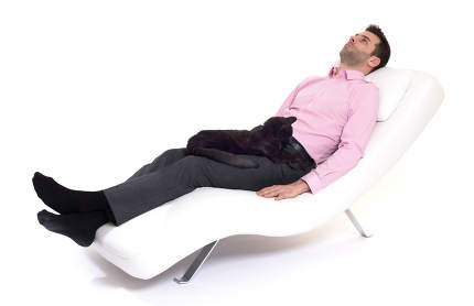 Man client sitting with psychologist on the comfortable couch du
