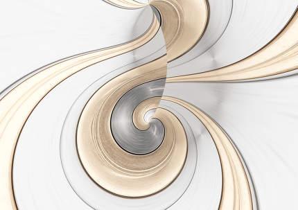 metallic creative swirl background 3d-illustration golden stripe