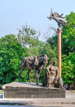 Monument to Ataman Anton Golovaty in Odessa, Ukraine