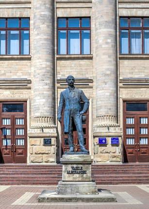 Monument to Vasile Alexandri in Chisinau, Moldova