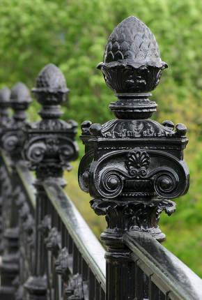 Ornamental metal stair rail