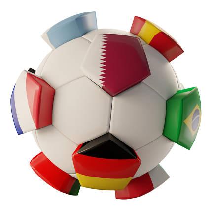 soccer ball creative Qatar Germany France design 3d-illustration