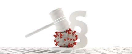 virus cell judge gavel paragraph law 3d-illustration
