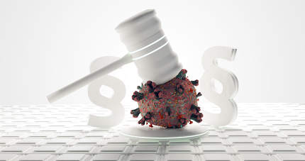 virus cell judge gavel paragraph law 3d-illustration