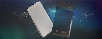 white and dark screen mobile phone 3d-illustration