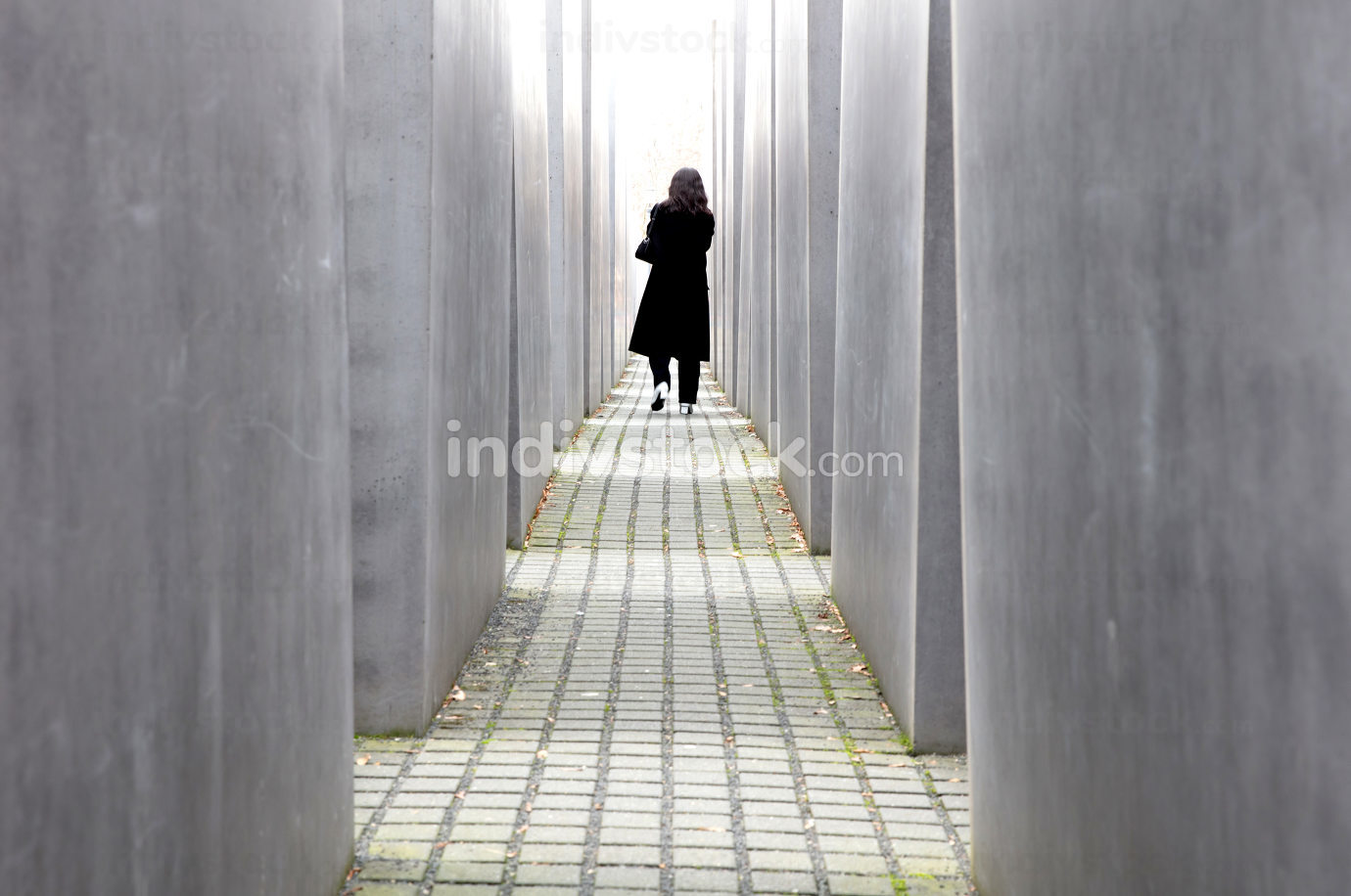 Berlin, Germany on december 30, 2019: Holocaust monument. View i