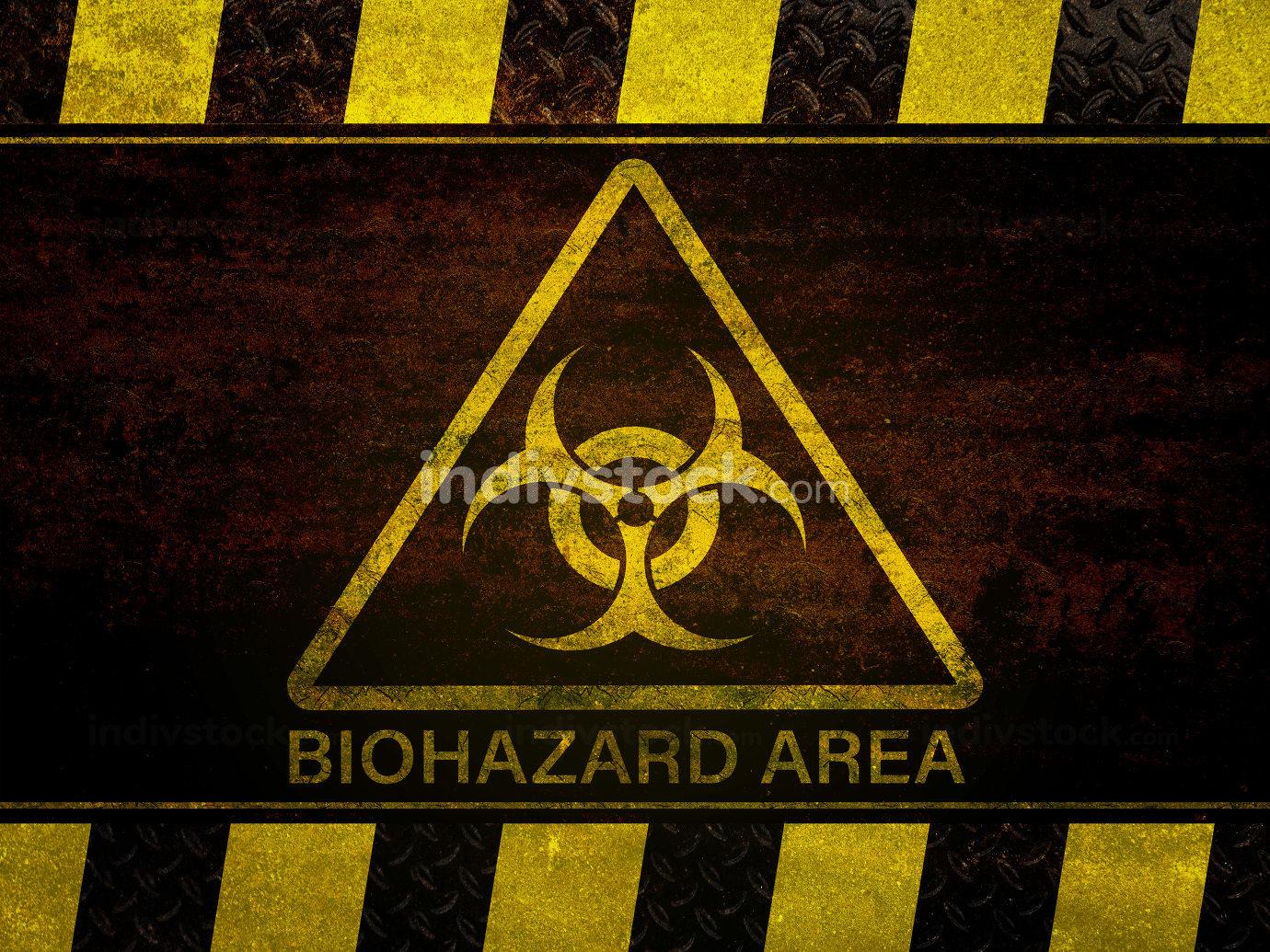 Biohazard dangerous sign