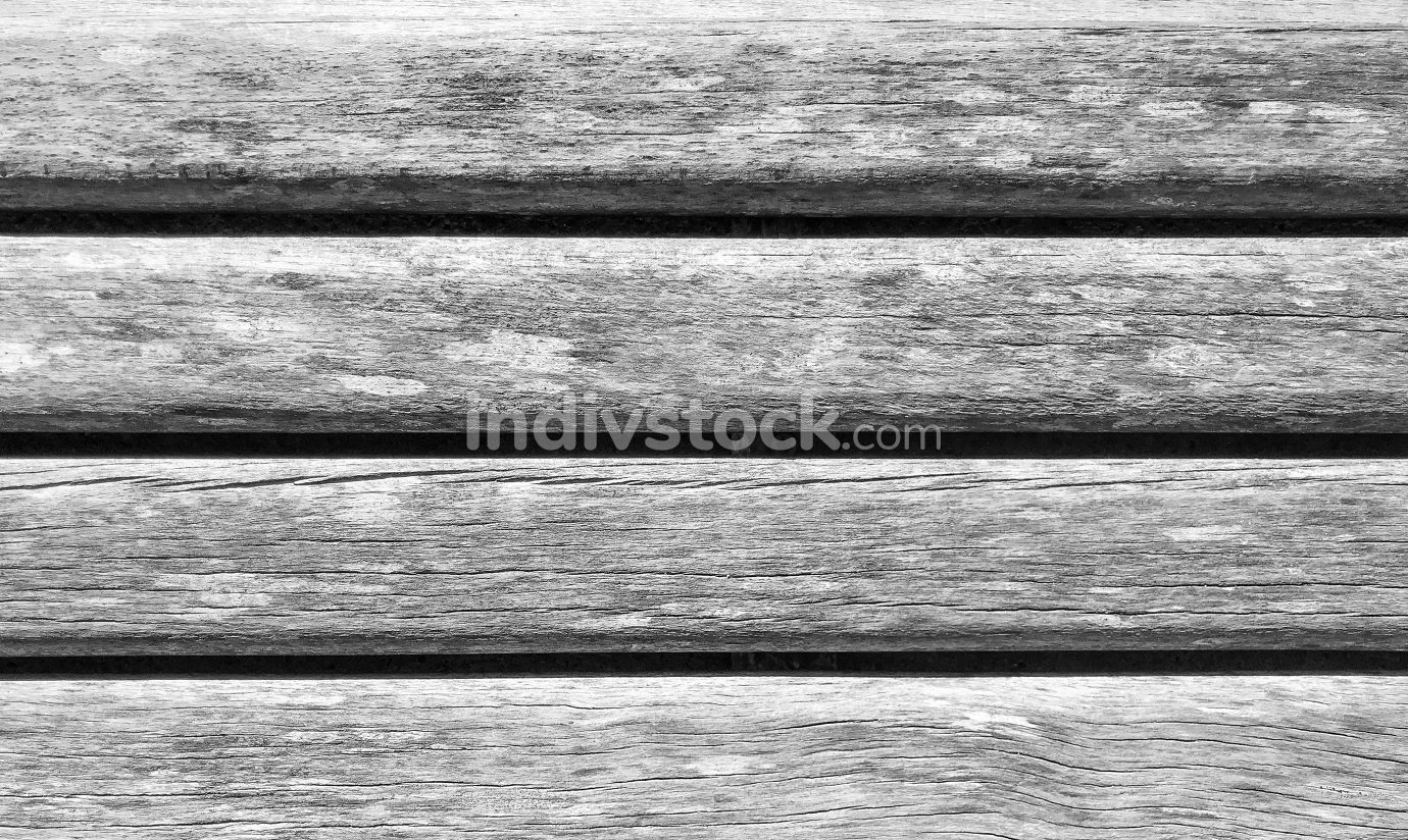 Black and White Image Of Wooden Boards Background