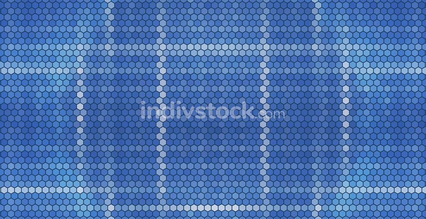 blue hexagonal grid design background 3d-illustration