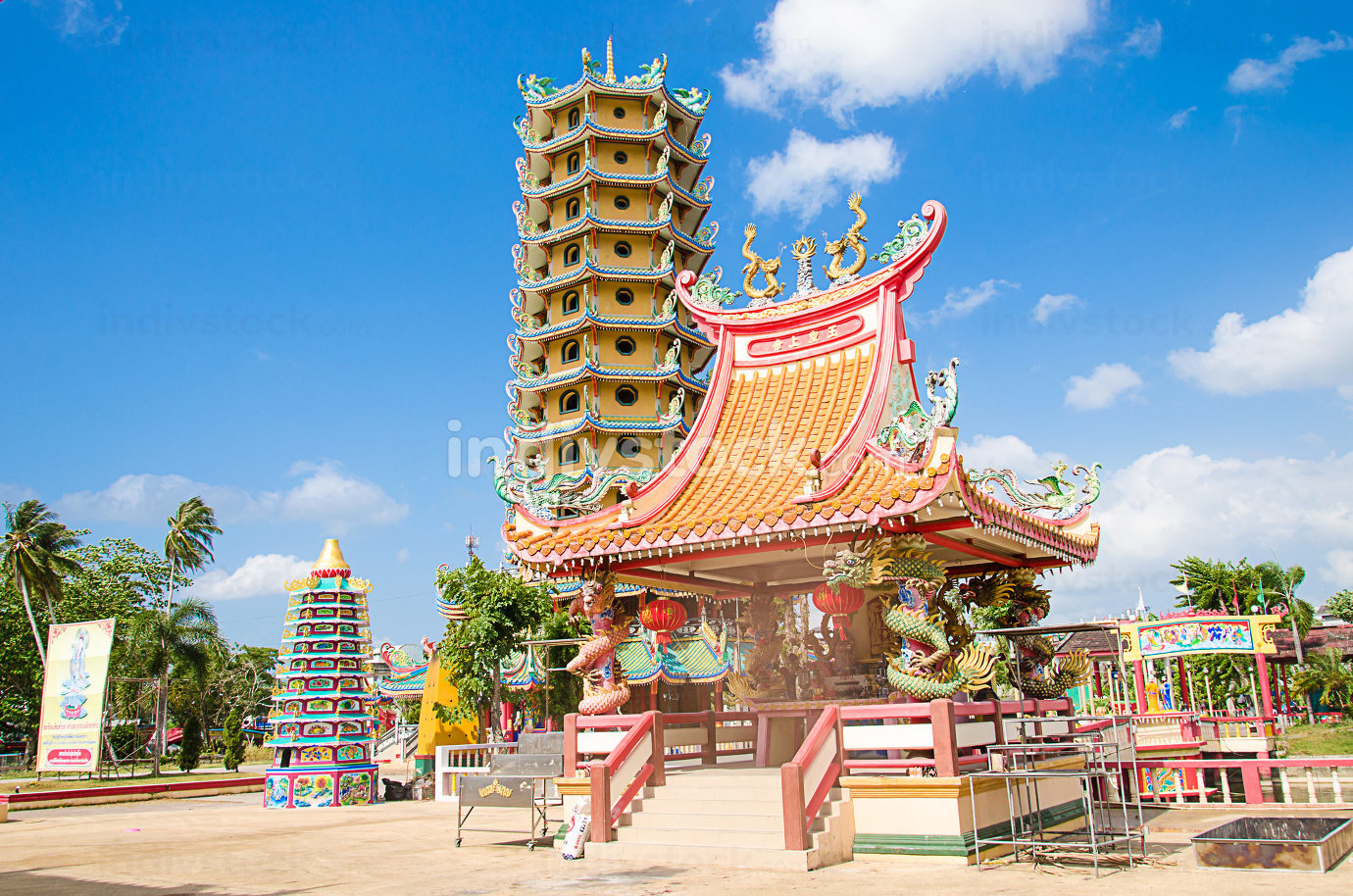 Chinese shrine  temple in Krabi province, Thailand