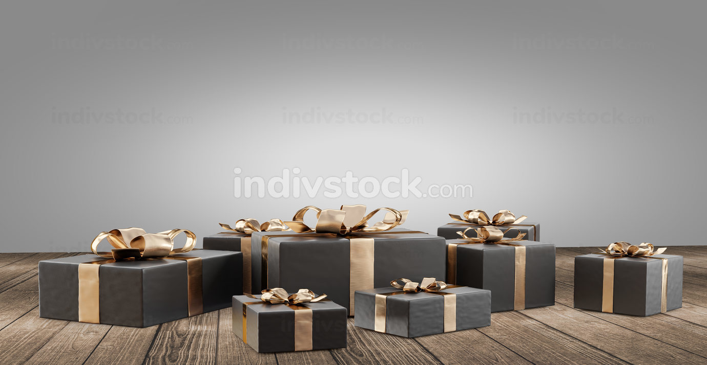 christmas gifts 3d-illustration festive design