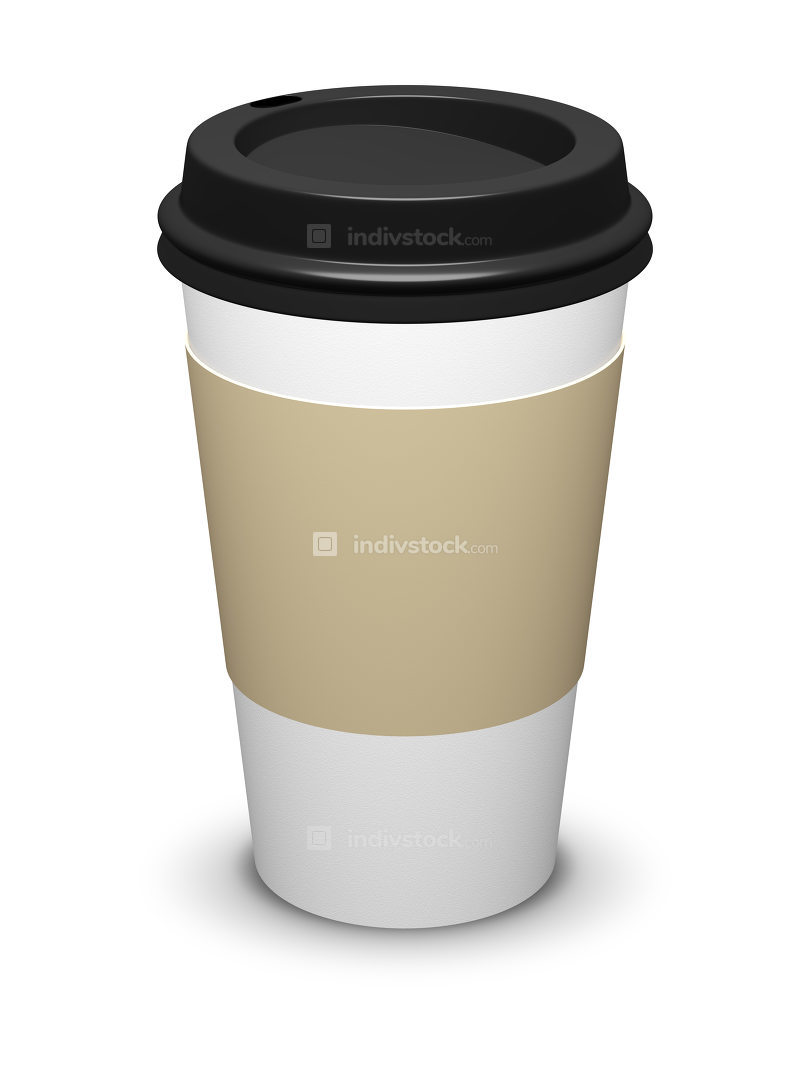 coffee to go cup isolated on white background