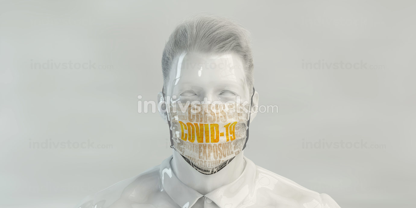 Covid-19 Concept with Man Wearing Mask