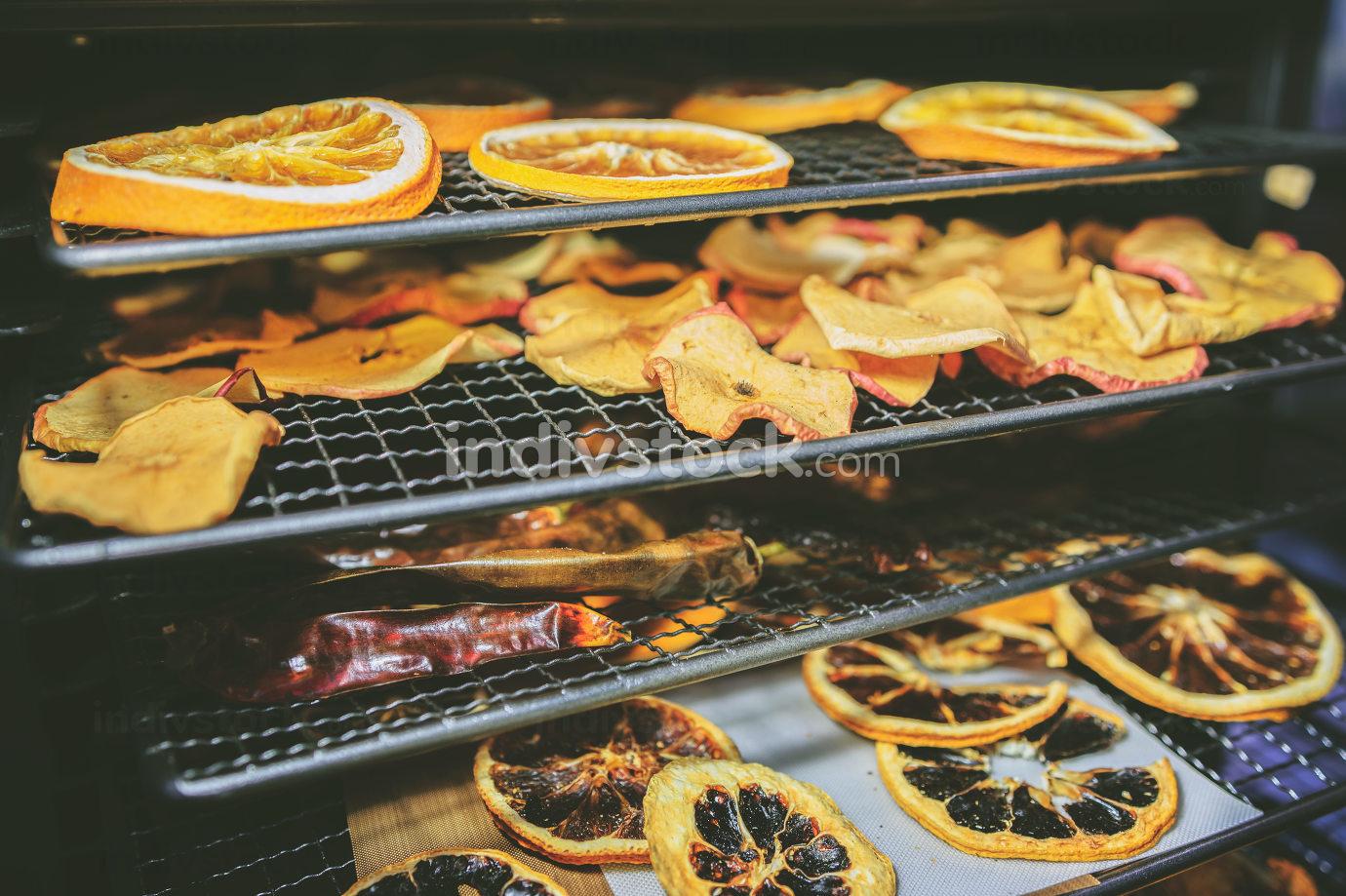 Dried homemade fruit