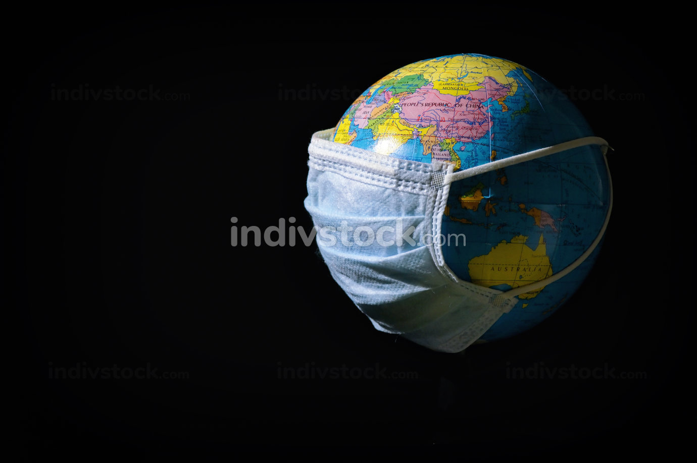 Earth And Mask To Fight Against Virus