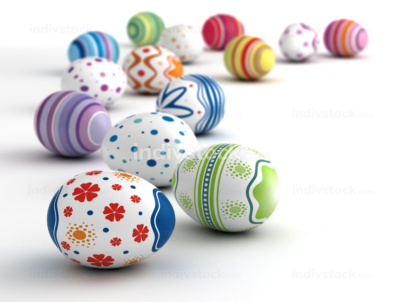 Easter Eggs 3d-illustration