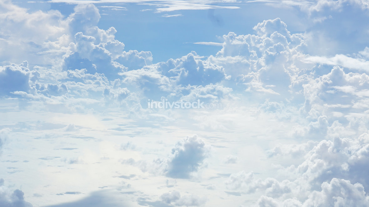 free download: blue sky white clouds background photo