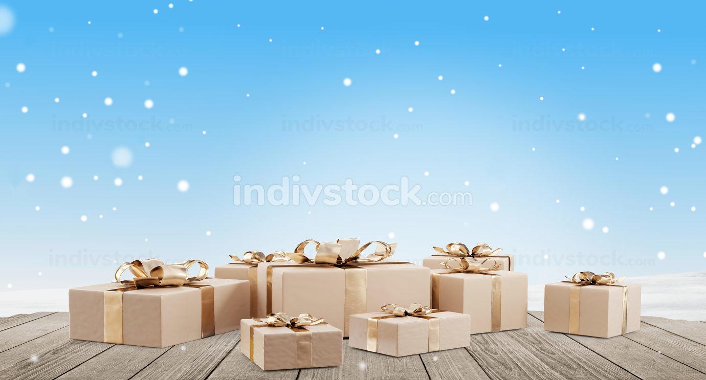 free download: christmas gifts 3d-illustration festive design