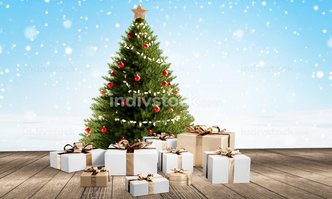 free download: Christmas gifts festive presents design 3d-illustration