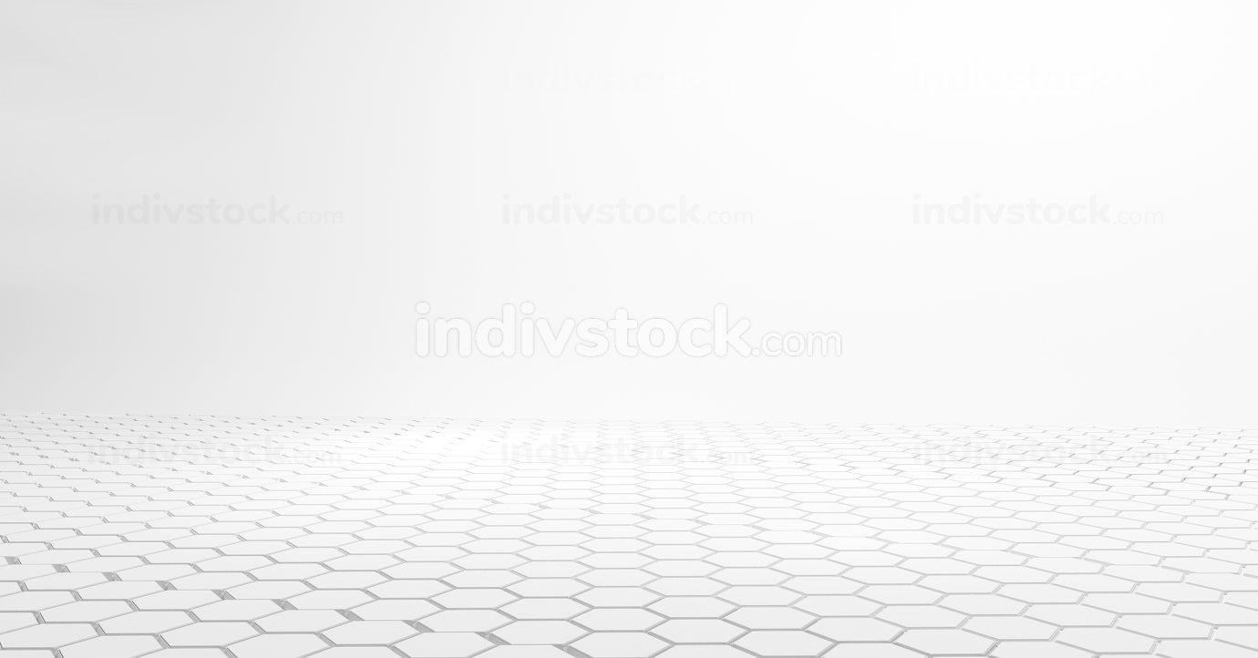 free download: hexagonal white design 3d-illustration